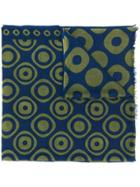 Altea Circle Print Fine Knit Scarf - Blue