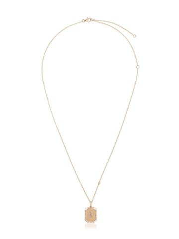Shay 18k Yellow Gold B Initial Necklace - Metallic