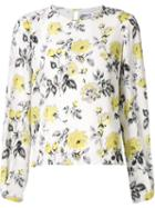 Carolina Herrera Rose Print Blouse