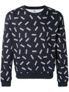 Moschino Logo Print Sweatshirt - Blue