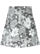Giamba Floral Jacquard Skirt