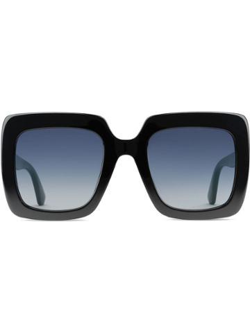 Gucci Eyewear Square-frame Acetate Sunglasses - Black