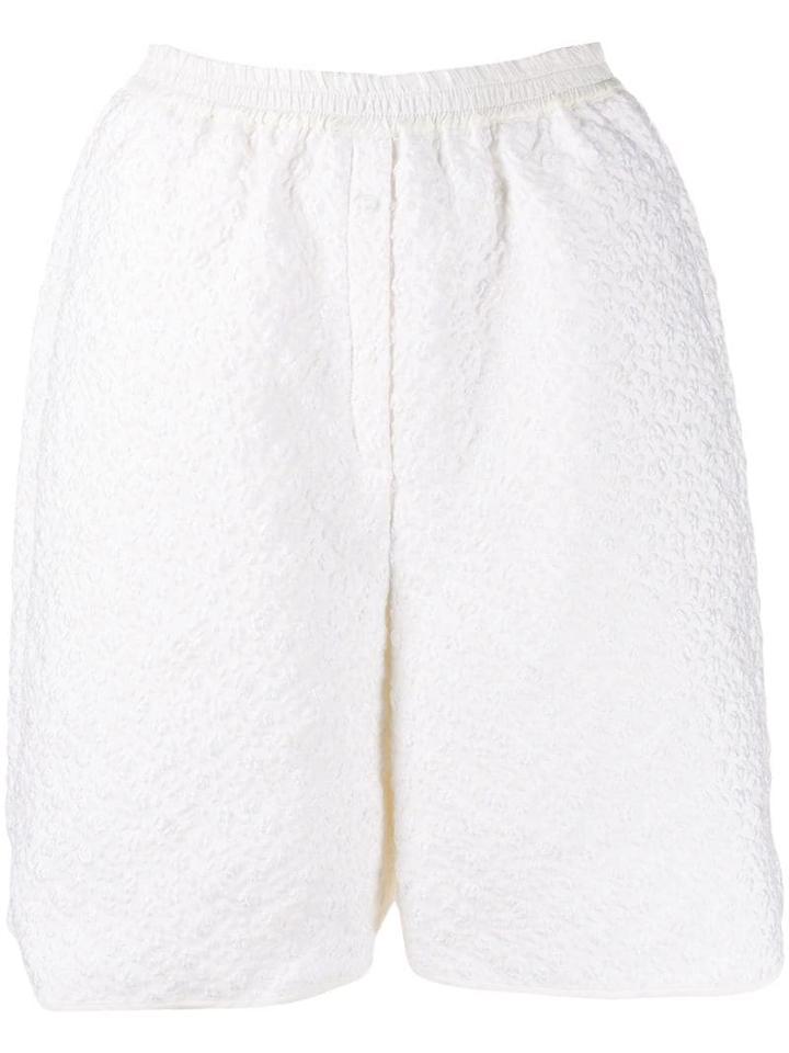 Cecilie Bahnsen Simone Textured Shorts - White