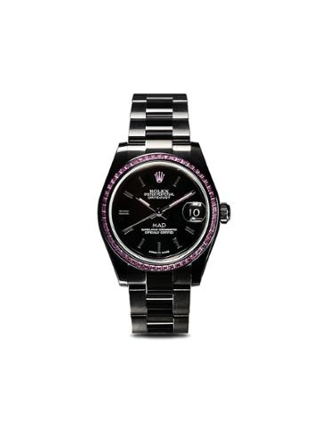 Mad Paris Rolex Lady Oyster Perpetual Datejust Watch - Black