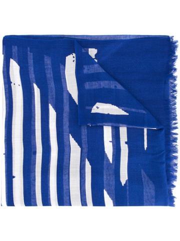 Y's Striped Scarf - Blue