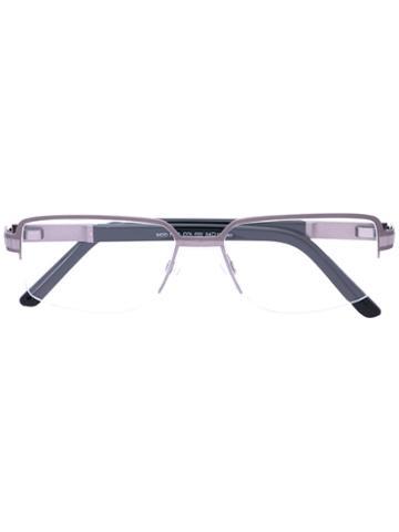 Cazal - Rectangle Frame Glasses - Men - Titanium/acetate - 54, Black, Titanium/acetate