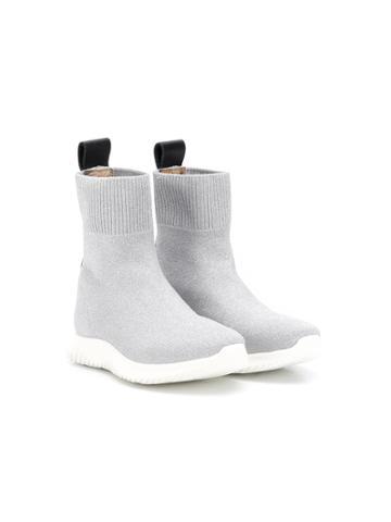 Roberto Cavalli Junior Teen Sock-style Boots - Silver