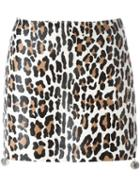 Drome Leopard Print Short Skirt