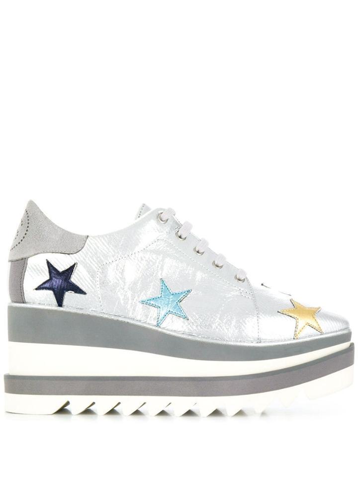 Stella Mccartney Sneak-elyse Star Sneakers - Silver