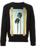 Palm Angels Palm Tree Print Sweatshirt - Black