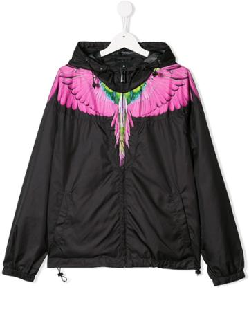 Marcelo Burlon County Of Milan Kids Teen Feather Print Hooded Jacket -