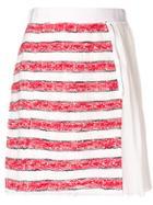 Dolce & Gabbana Vintage Striped Pleated Skirt - White