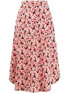 Stella Mccartney Floral Midi Skirt - Pink