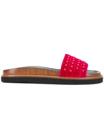 Tod's Studded Slides - Pink