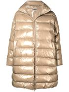 Hache Oversized Puffer Coat - Neutrals