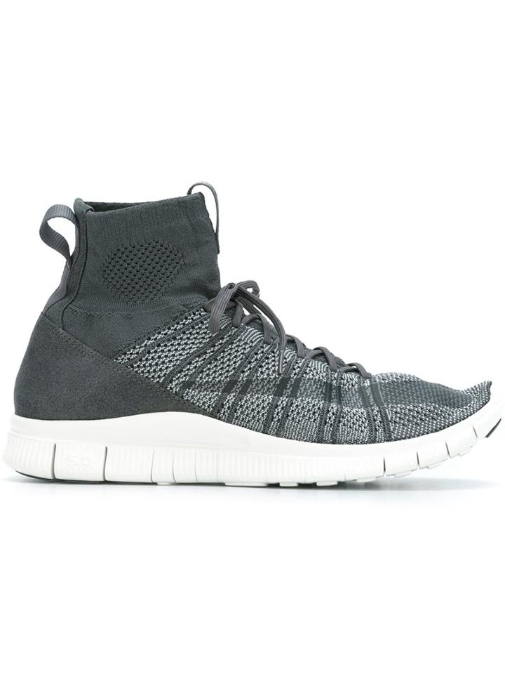 Nike 'free Flyknit Mercurial' Hi-top Sneakers