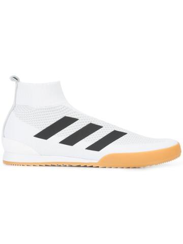 Gosha Rubchinskiy Striped Sock Sneakers - White