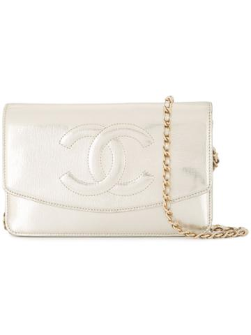 Chanel Vintage Cc Chain Wallet - Metallic