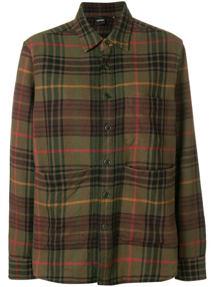 Aspesi Plaid Shirt - Green
