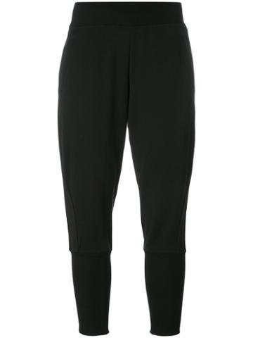 Y-3 - Skinny Track Pants - Women - Cotton - M, Black, Cotton