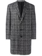 Canali Checked Overcoat