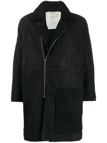 Toogood Shearling Collar Coat - Black