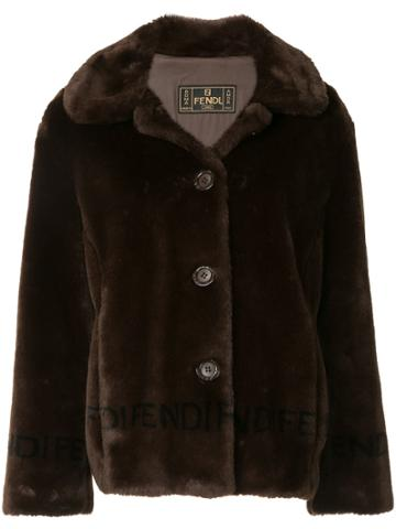 Fendi Vintage Faux Fur Jacket - Brown