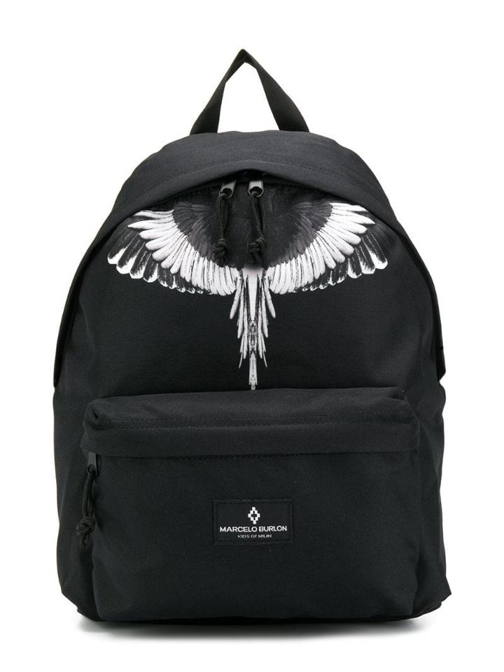 Marcelo Burlon County Of Milan Kids Teen Wings Print Backpack - Black