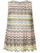 M Missoni Wave Striped Sleeveless Blouse - Nude & Neutrals