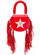 Salar - Fringed Star Tote - Women - Leather - One Size, Red, Leather