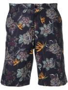 Etro Floral Print Deck Shorts - Blue