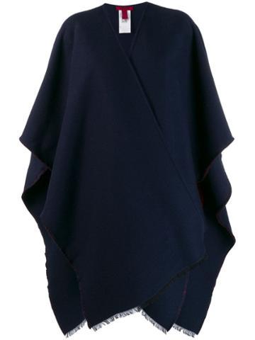Valentino Cape Coat - Blue