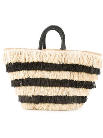 Kayu Striped Fringe Tote