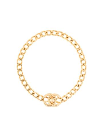Chanel Pre-owned 1996 Ss Cc Turn-lock Bracelet - Gold