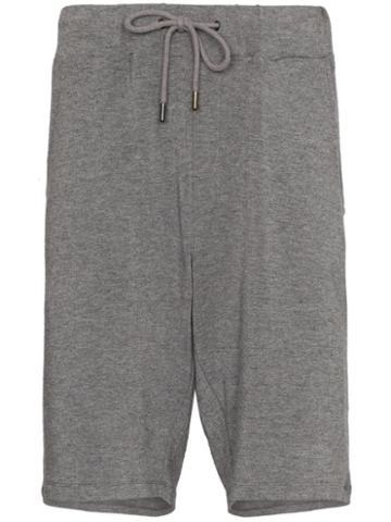Lot78 Drawstring Track Shorts - Grey