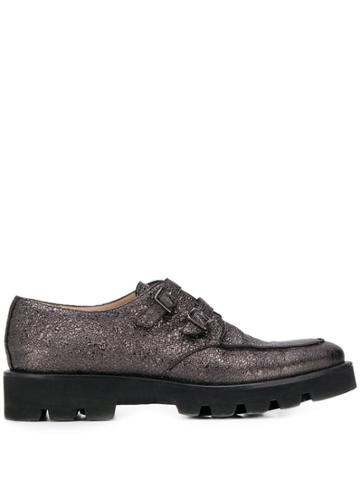 Fabiana Filippi Metallic Brogues - Grey