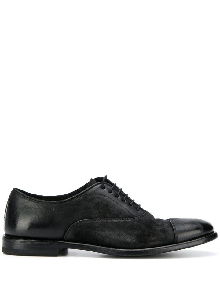 Henderson Baracco Leather Oxford Shoes - Black