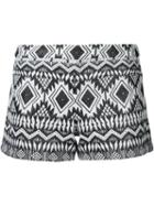 Alice+olivia Aztec Patterned Shorts