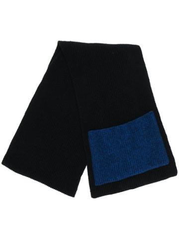Ssheena Ribbed Knit Scarf - Black