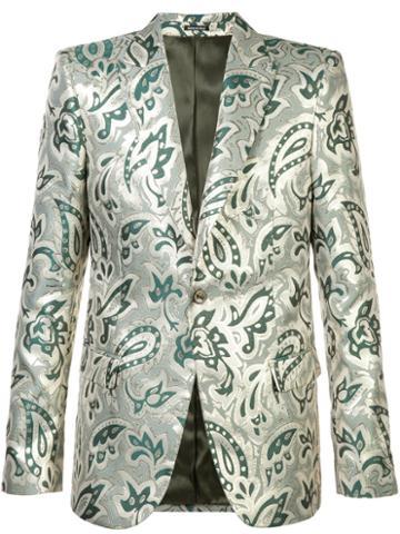 Alexander Mcqueen Blazer Jacket, Men's, Size: 58, Green, Polyester/silk/viscose