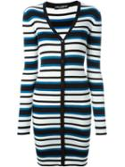 Dolce & Gabbana Long Striped Cardigan, Women's, Size: 38, Black, Silk