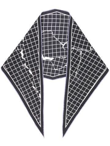 Haider Ackermann Checked Neck Tie - Black