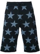 Guild Prime Stars Print Shorts, Men's, Size: 1, Black, Cotton