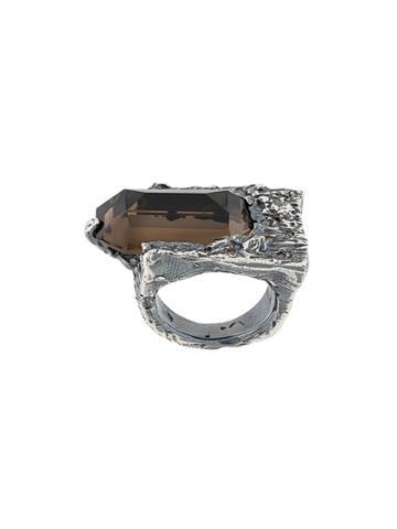 Chin Teo Diamond And Quartz Wiseman Ring - Metallic