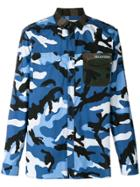 Valentino Camoushuffle Shirt - Blue