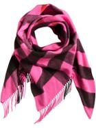 Burberry Cashmere Check Bandana - Pink & Purple