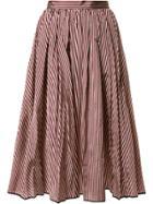 Tome Flared Stripe Skirt - Multicolour