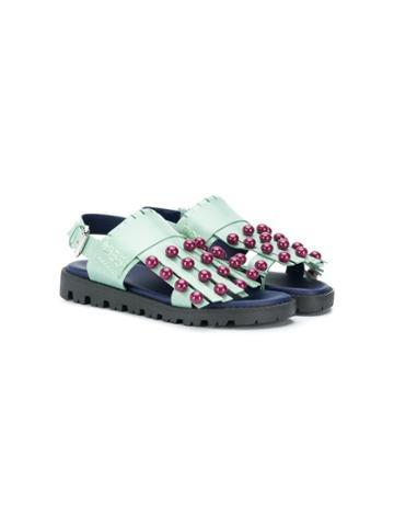 Marni Kids Teen Tasseled Sandals - Green