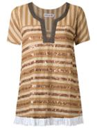 Isabela Capeto Linen Embroidered Top