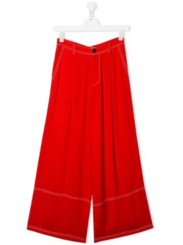 Marni Kids Teen Wide Leg Trousers - Red